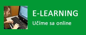 tlačidlo E-Learning - učíme sa online