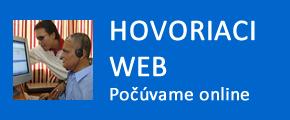 tlačidlo Hovoriaci web - počúvame online